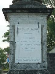 Colonne de la duchesse d'Angoulême - English: Duchesse of Angoulême Column, Louis XVI's sister (1815), Angoulême, Charente, SW France