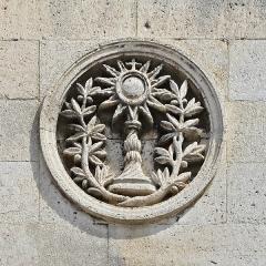 Eglise Saint-André - Français:   Motif de la façade de l\'église Saint-André (XIXe siècle); Angoulême, Charente, France.