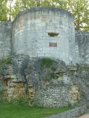 Remparts - English: Léchelle tower. City wall of Beaulieu, Angoulême (Charente, SW France)