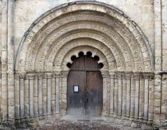 Eglise Saint-Jacques - Français:   Portail. Église Saint-Jacques. Aubeterre-sur-Dronne. Vers 1160.