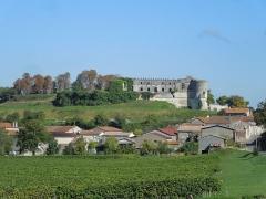 Château - Deutsch: Bouteville und das Château de Bouteville, Blick von Süden
