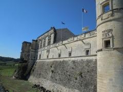 Château - Deutsch: Château de Bouteville, Hauptfassade (Osten) von Nordosten