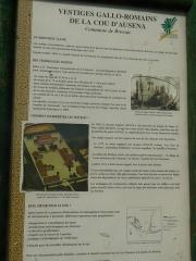Restes de la villa romaine de Lacou-Dausena - English: information pannel roman villa of Lacou Dauzena at Brossac, Charente, SW France