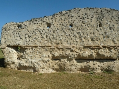 Restes de la villa romaine de Lacou-Dausena - English: roman villa of Lacou Dauzena at Brossac, Charente, SW France