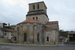 Eglise Saint-Nicolas - Deutsch: Ehemalige Abteikirche Saint-Nicolas in Cellefrouin im Département Charente (Nouvelle-Aquitaine/Frankreich)