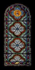 Eglise Saint-Martial - Français:   Vitrail (XIXe siècle) par Louis-Victor Gesta, église Saint-Martial, Chalais, France.