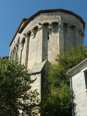 Eglise Saint-Vivien - English: fortified church of Charras, Charente, SW France