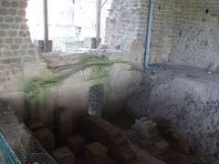 Vestiges de la villa gallo-romaine de Cassinomagus - Français:   Cassinomagus, commune de Chassenon, Charente, France S-O. Thermes classés MH.