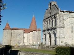 Château -  church and castle of Chillac, Charente, SW France