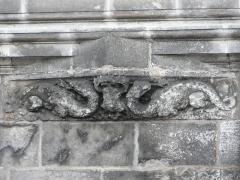 Château de François-Ier - Français:   Décor représentant deux salamandres: fenêtre Renaissance du château de Cognac, Charente, France.