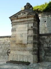 Fontaine dite de François-Ier - English: fountain of Cognac castle, Charente, SW France