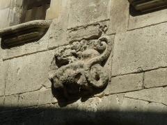 Maison dite de la Nourrice de François-Ier - English: salamander on an old house of Cognac, Charente, SW France