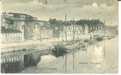 Porte et tours du Vieux-Port -  Gabarres au port de Cognac