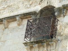 Ancien prieuré Saint-Léger - English: detail on back of St-Léger church, Cognac, Charente, SW France