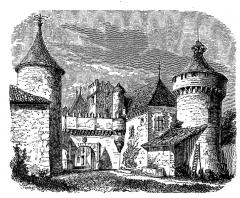 Château de l'Oisellerie -  extrait de La France illustrée, géographie, histoire, administration, statistique, etc., tome I, par V.-A. Malte-Brun.