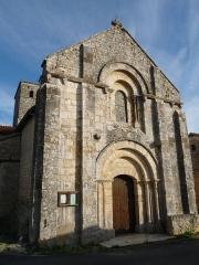 Eglise Saint-Hilaire - Français:   façade de l\'église de Couture, Charente, France