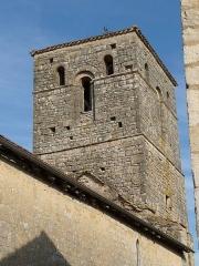Eglise Saint-Hilaire - Français:   clocher de l\'église de Couture, Charente, France