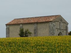 Chapelle des Templiers - English: Templar chapel of Cressac-Saint-Genis, Charente, France