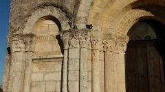 Eglise Saint-Martial - Français:   Détails du portail, église de Dirac, Charente, France