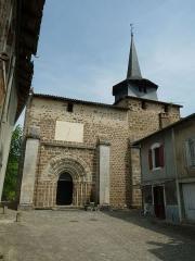 Eglise Saint-André - English: Church of Exideuil-sur-Vienne, Charente, SW France