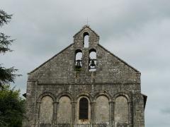 Eglise Saint-Pierre - Français:   Le clocher de l\'église Saint-Pierre, Feuillade, Charente, France