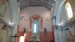 Eglise Saint-Pierre - Français:   peinture murale int eglise feuillade