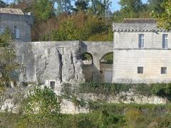 Château de la Tranchade - Français:   Château de la Tranchade, Garat, Charente, France. Vue du sud, tranchée et pont d\'accès