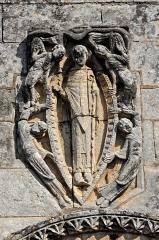 Eglise Saint-Martin - Deutsch: Genzac-la-Pallue, Hochrelief, St.-Martin in der Mandorla