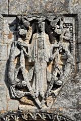 Eglise Saint-Martin - Deutsch: Gensac-la-Pallue, Hochrelief, Muttergottes in der Mandorla