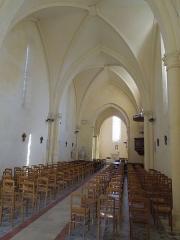 Eglise Notre-Dame-de-Lignières - Deutsch: Innenansicht der Kirche Notre-Dame in Lignières-Sonneville
