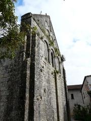 Eglise Saint-Martin - Français:   Le mur nord-ouest de l\'église Saint-Martin, Marthon, Charente, France