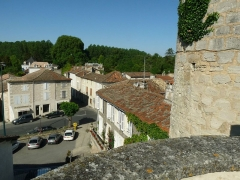 Château - English:   view from the old castle and keep of Montignac, Charente, SW France