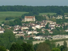 Château - English: view of Montmoreau, Charente, SW France