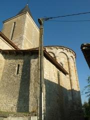 Eglise Saint-Hilaire - English: church of Nonac, Charente, SW France