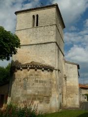 Eglise Saint-Vincent - English: church of Puymoyen, Charente, SW France