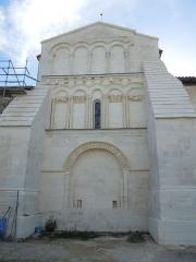 Eglise Saint-Pierre - English: Reignac, Église Saint-Pierre, northside of the tower