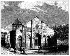 Eglise Saint-André -  extrait de La France illustrée, géographie, histoire, administration, statistique, etc., tome I, par V.-A. Malte-Brun.