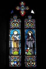 Eglise Saint-Claud - Deutsch: Katholische Kirche Saint-Claud in Saint-Claud im Département Charente (Nouvelle-Aquitaine/Frankreich), Bleiglasfenster; Darstellung: Ludwig der Heilige, heilige?