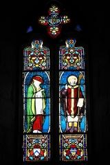 Eglise Saint-Claud - Deutsch:   Katholische Kirche Saint-Claud in Saint-Claud im Département Charente (Nouvelle-Aquitaine/Frankreich), Bleiglasfenster; Darstellung: Heiliger Bonaventura, Bischof?