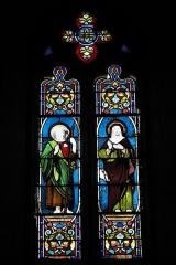 Eglise Saint-Claud - Deutsch: Katholische Kirche Saint-Claud in Saint-Claud im Département Charente (Nouvelle-Aquitaine/Frankreich), Bleiglasfenster; Darstellung: Apostel Jakobus, heilige?