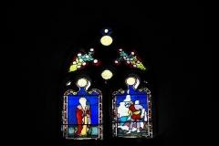 Eglise Saint-Claud - Deutsch: Katholische Kirche Saint-Claud in Saint-Claud im Département Charente (Nouvelle-Aquitaine/Frankreich), Bleiglasfenster; Darstellung:?