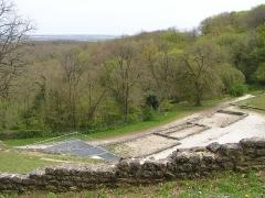 Théâtre gallo-romain dit des Bouchauds - Français:   coteau depuis le théâtre gallo-romain des Bouchauds, commune de Saint-Cybardeaux