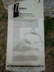 Dolmen - English: Information board at the Dolmen de Saint-Fort