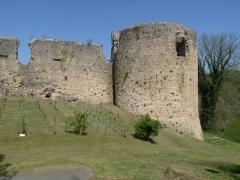 Ruines du château - Français:   Tour sud-est, Château de St-Germain-de-Confolens, Charente, France