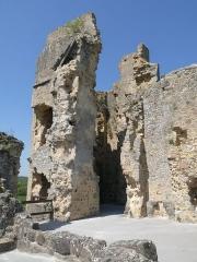 Ruines du château - Français:   tour nord-ouest, Château de St-Germain-de-Confolens, Charente, France