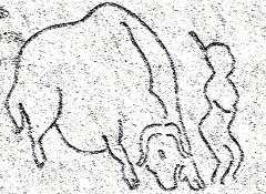 Gisement préhistorique - Español: Relieve paleolítico de la cueva de Roc de Sers (Charente, Francia)