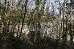 Gisement préhistorique - Français:   Site préhistorique du Roc de Sers, commune de Sers, Charente, France. Falaise 100 mètres avant le Roc de Sers.