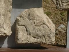 Gisement préhistorique - Français:   Reproduction de la frise (morceau 8), Roc de Sers, Charente, France. Animal: cheval
