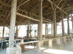 Halles - English: market hall of Villebois-Lavalette, Charente, SW France
