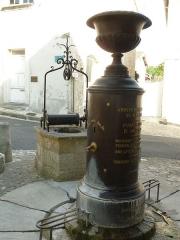 Halles - English:   fountain of the market of Villebois-Lavalette, Charente, SW France
